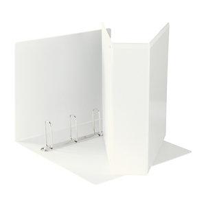 Esselte Display Raccoglitore ad anelli personalizzabile, A4, Dorso 80 mm, Capacità 580 fogli, Cartone, Bianco