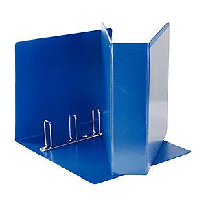 Esselte Display Raccoglitore ad anelli personalizzabile, A4, Dorso 80 mm, Capacità 580 fogli, Cartone, Blu