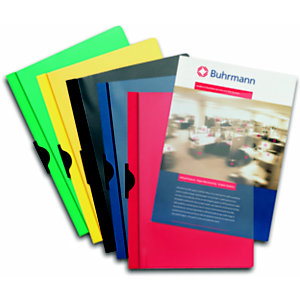 Esselte Dossier de pinza, A4, PVC, 60 hojas, rojo