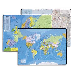 ESSELTE Sous mains carte du PLANISPHERE, dimensions 53x40 cm