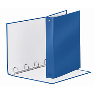 Esselte Meeting Raccoglitore ad anelli, 22 x 30 cm, Dorso 43 mm, Capacità 200 fogli, Cartone, Blu Metallizzato