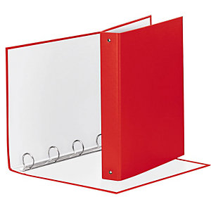 Esselte Meeting Raccoglitore ad anelli, 22 x 30 cm, Dorso 43 mm, Capacità 200 fogli, Cartone, Rosso Vivida