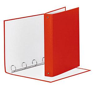 Esselte Meeting Raccoglitore ad anelli, 22 x 30 cm, Dorso 72 mm, Capacità 400 fogli, Cartone, Rosso