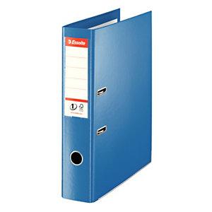 Esselte Nº1 Power Archivador de palanca, Folio, Lomo 75 mm, Capacidad 500 hojas, Cartón recubierto de polipropileno, Azul