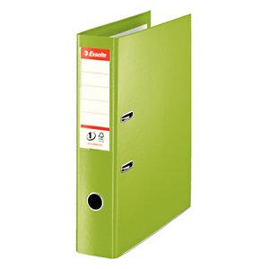 Esselte Nº1 Power Archivador de palanca, Folio, Lomo 75 mm, Capacidad 500 hojas, Cartón recubierto de polipropileno, Verde