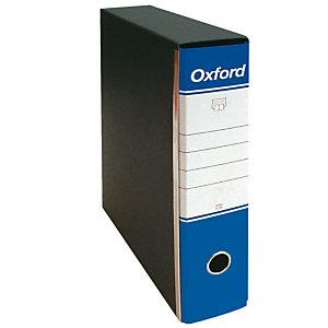 Esselte Oxford Registratore archivio, Formato Commerciale, Dorso 8 cm, Cartone, Blu
