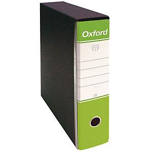 Esselte Oxford Registratore archivio, Formato Commerciale, Dorso 8 cm, Cartone, Verde Acido