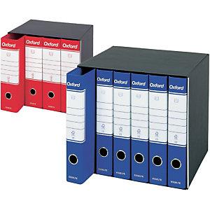 Esselte Oxford Registratore archivio, Formato Protocollo, Dorso 5 cm, Cartone, Blu