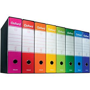 Esselte Oxford Registratore archivio, Formato Protocollo, Dorso 8 cm, Cartone, Blu