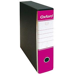Esselte Oxford Registratore archivio, Formato Protocollo, Dorso 8 cm, Cartone, Fucsia