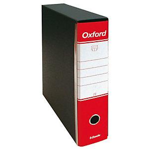 Esselte Oxford Registratore archivio, Formato Protocollo, Dorso 8 cm, Cartone, Rosso