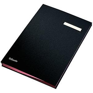 Esselte Portafirmas de fuelle, Folio, 20 separadores, polipropileno, negro