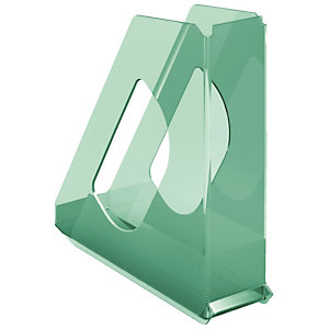Esselte Portariviste Colour'Ice, Polistirene, 72 x 256 x 260 mm, Verde traslucido
