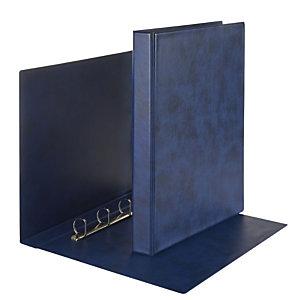 Esselte Prestige Raccoglitore ad anelli, A4+, Dorso 71 mm, Capacità 400 fogli, Cartone, Blu