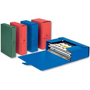 Esselte Scatola archivio Eurobox, Cartone, Rosso, 350 mm x 250 mm x 60 mm