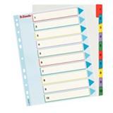 Esselte Separadores numéricos 1-10, A4+, cartón, 10 pestañas, colores surtidos