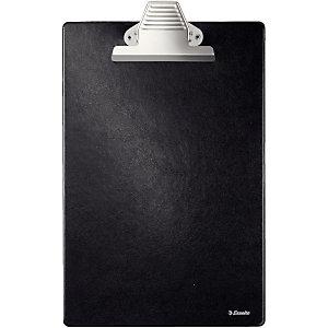 Esselte Tabla de pinza portapapeles, Folio, base de plástico, negro