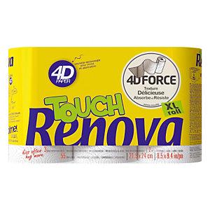 Essuie-tout Renova 4D, 3 rouleaux
