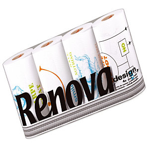 Essuie-tout Renova Design, colis de 40 rouleaux