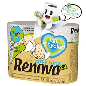 Essuie-tout Renova XXL 100% recyclé, le lot de 2 rouleaux