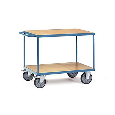 Chariot à étages à plateaux bois##Etagewagen met houten legborden