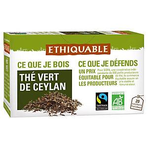 ETHIQUABLE 2 paquets Thé Vert de Ceylan Ethiquable