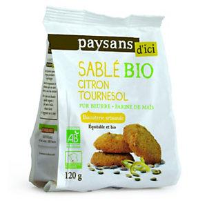 Ethiquable Biscuit sablé Bio, citron tournesol - sachet de 120 g