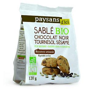 Ethiquable Biscuit sablé Bio, aux pépites de chocolat noir