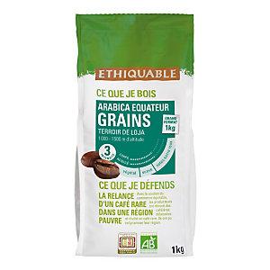 Ethiquable Café en grains Equateur, arabica d'altitude - Intensité 3 - Sachet de 1 kg