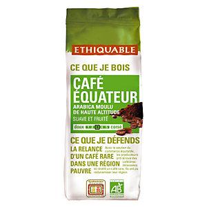 Ethiquable Café moulu Équateur, Arabica, sachet, 250 g