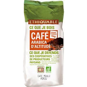 Ethiquable Café moulu Pérou équitable, Arabica, paquet 1 kg