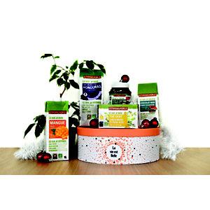 Ethiquable Coffret cadeau Coffret de Noël - Panier gourmand prêt à offrir - 5 éléments
