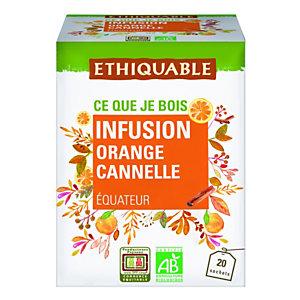 Ethiquable Infusion Bio orange cannelle - Boîte de 20 sachets