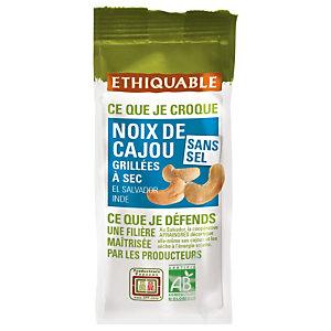 Ethiquable Noix de cajou Bio grillées sans sel - sachet de 100 g