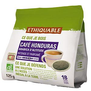 Ethiquable Paquet de 18 dosettes de café Honduras, compatible SENSEO - Intensité 4