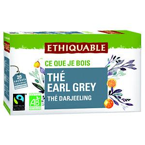 Ethiquable Sachets de thé noir Earl Grey Darjeeling