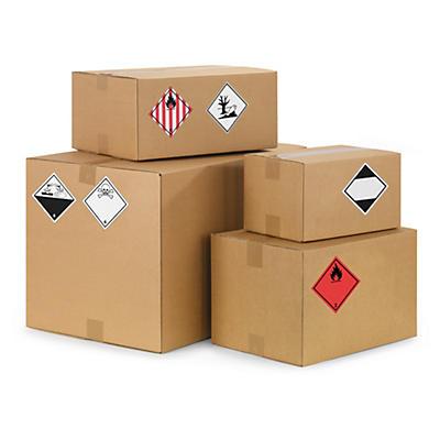 Etichette adesive per il trasporto di materiali pericolosi