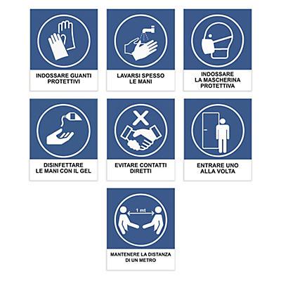 Etichette adesive raccomandazioni ANTI-COVID19