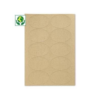 Etichette adesive stampabili in carta kraft