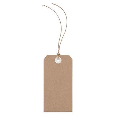 Etichette americane in kraft con filo in lino
