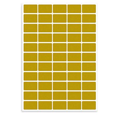 Etichette stampabili in carta satinata oro TICO