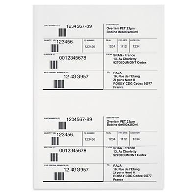 Etiketten für Laser- und Inkjetdruck