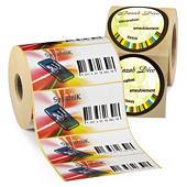 Etiketter med tryk