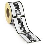 Etiketter til lufttransport - Overpack