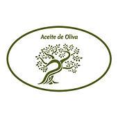 Etiqueta para aceite de oliva con diseño olivo
