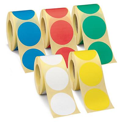 Etiquetas adesivas redondas de cor reposicionáveis diâmetro 70 mm