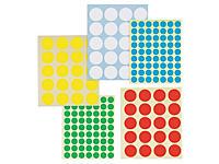 Etiquetas adhesivas redondas en color