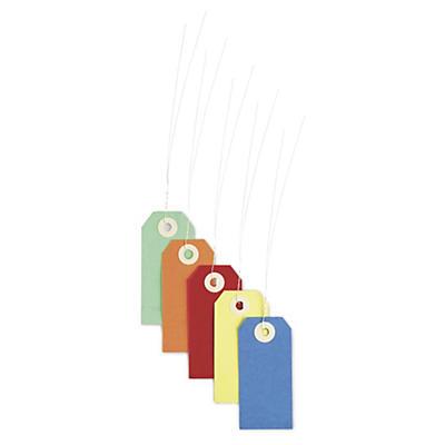 Etiquetas de cartón de color