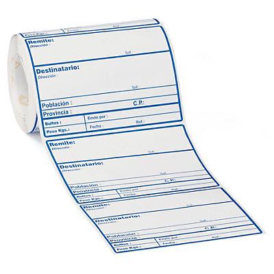 Etiquetas de envío en rollo