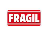 Etiquetas de expedição FRÁGIL